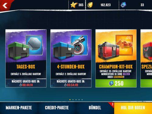 Öffne die Tages-Box und 4-Stunden-Box für weitere Belohnungen