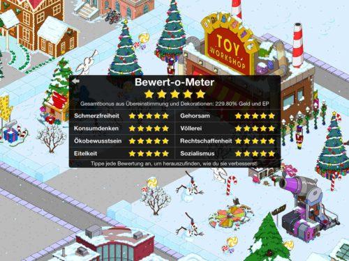 Mit unseren Tipps ist es kein Problem beim Simpsons Springfield Bewert-o-Meter 5 Sterne zu bekommen