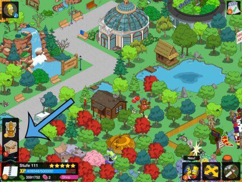Wenn du die Quest in Simpsons Springfield nicht erledigst, dann wird diese unter einem speziellen Icon geparkt