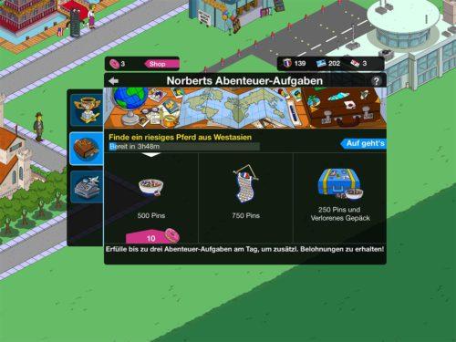 Hast du bei Norberts Abenteuer-Aufgaben das richtige Reiseziel gewählt, wird dir auch die Zeit angezeigt