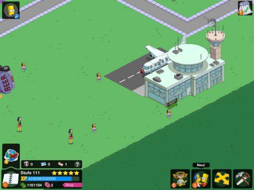Erbaue den Flughafen und Tippe Touristen beim Event Reiseziel Springfield an