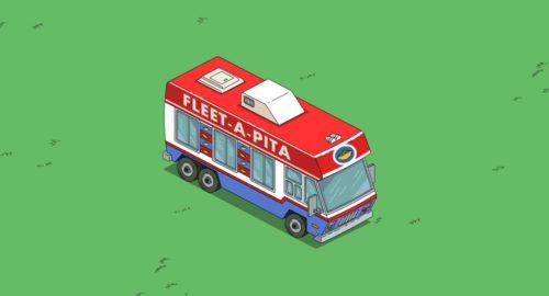 Um den Fleet-A-Pita Van freizuschalten, benötigst du in Simpsons Springfield Luann und die Keksfabrik