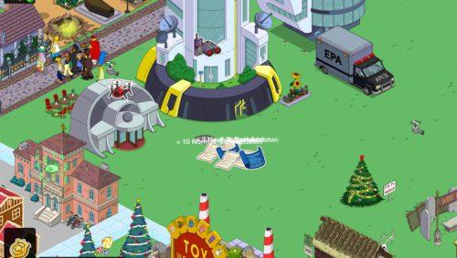 Zufallsbasiert bekommst du auch durch das Antippen der feindlichen Agenten Schaubilder beim Geheimagenten Event von Die Simpsons Springfield