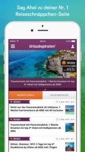 Urlaubspiraten präsentiert stets neue Reiseschnäppchen - Screenshot (c) Urlaubspiraten