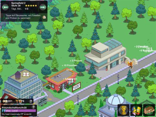 Freunde und Nachbarn sind auch im Zeitreise Event von Simpsons Springfield wichtig, um genug Eventwährungen zu sammeln