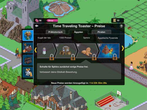 Time Traveling Toaster Akt 2 Ägypten Preise in Simpsons Springfield