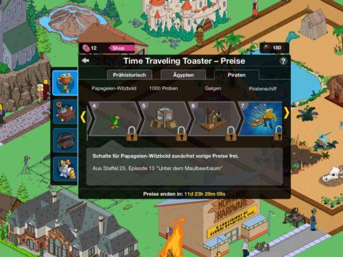 Simpsons Springfield Zeitreise Akt 3 Piraten Preise Übersicht