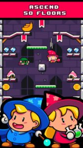 Drop Wizard Tower Screenshot - (c) Nitrome