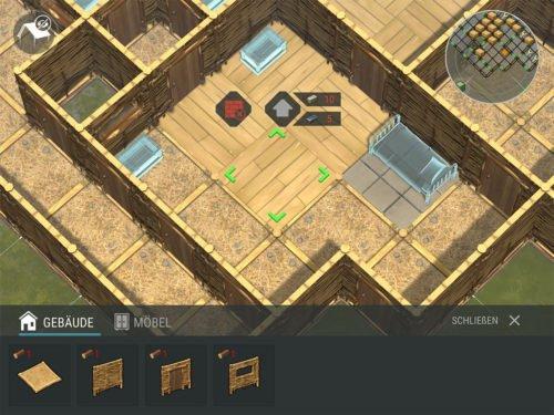 Um den ATV zu platzieren, musst du diesen auf Steinfußboden upgraden (insgesamt ein 3x3 Feld)