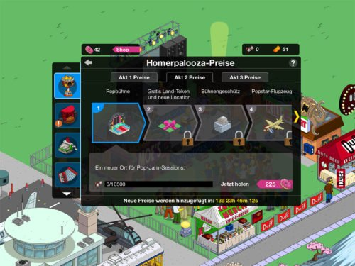 Simpsons Springfield Homerpalooza Akt 2 Preise
