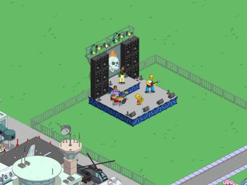 Die Rockbühne beim Simpsons Springfield Homerpalooza Event
