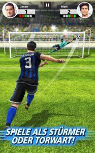 In Football Strike bist du abwechselnd Torwart bzw. Stürmer im Spielmodi Freistoß - Screenshot (c) Miniclip