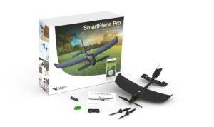 Inhalt der Verpackung. Neben dem SmartPlane Pro Ersatzpropelleer, Joystick, Kurzbeschreibung und Batterie