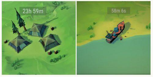 Auf der Karte können nun die Events Schiffswrack und Schmuggler Lager auftreten