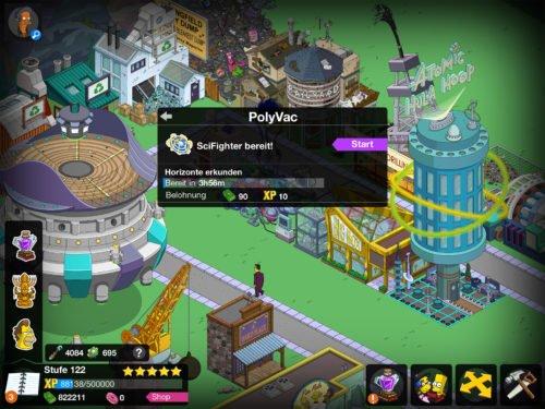 Das Gebäude PolyVac bietet den SciFighter an, ein Minispiel, um an Müll und Smart Devices zu gelangen