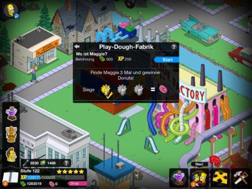 Wo ist Maggie bei der Play-Dough-Fabrik bringt dir bei mehrmaligen finden Donuts