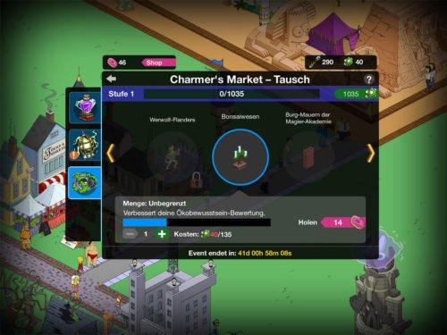 Der Charmer's Market beim Treehouse of Horror Event lässt dich Goblin-Gold in Preise umtauschen