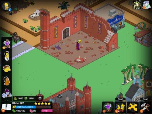 Nun ist die Magier-Akademie erbaut, doch antippen kannst du Mr. Burns (Lord Montymort) nicht, daher fahre mit dem nächsten Schritt fort