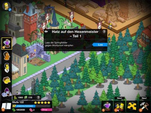 Mit der Storyline Hatz auf den Hexenmeister kannst du Springfielder gegen Montymort kämpfen lassen
