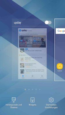 Samsung upday vom Homescreen verbannen, indem du den Regler oben antippst, sodass dieser grau ist