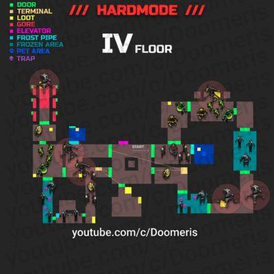Auf der Karte werden die Beißer und Geschützturme in Ebene 4 vorgestellt - Hardcore Modus - (c) Doomeris