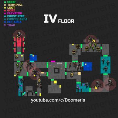 Auf der Karte werden die Beißer und Geschützturme in Ebene 4 vorgestellt - Normaler Modus - (c) Doomeris