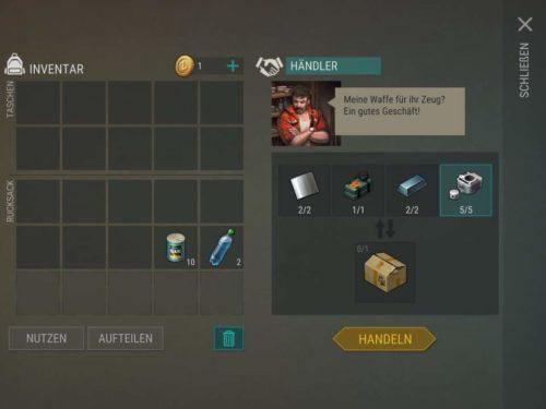 Beim Händler kannst du eine Kiste mit einem Welpen erhalten