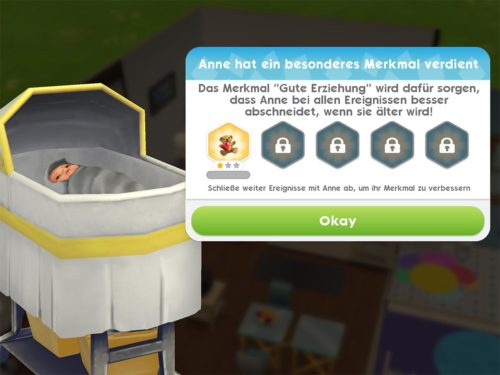 Ereignis abgeschlossen bringt dir auch ein besonderes Merkmal für dein Baby ein