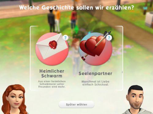 Stellst du dich einem anderen Sim kokett vor, entsteht daraus eine Liebesgeschichte, die dazu führt, dass du Babys bekommen und Heiraten kannst