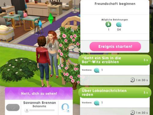 Gehst du eine Beziehung zu anderen Sims ein, bringt dies stets Sim-Tickets als Belohnung