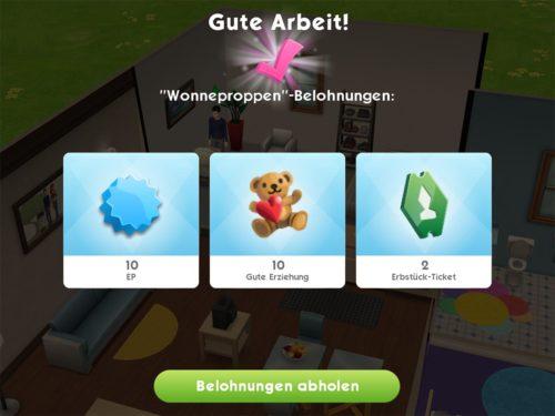 Kümmerst du dich um dein Baby in Sims Mobile und startest das Ereignis Wonneproppen, gibt dies 2 Erbstück-Tickets