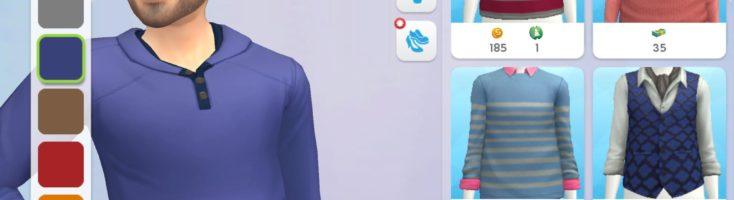 Bei Kleidung kannst du nun verschiedene Kleidungsstücke sehen. Links kannst du auch wählen, was du ändern möchtest (Shirt, Hose, Kleid, Schuhe). Umso höher dein Level, desto mehr Kleidungsstücke stehen zur Auswahl