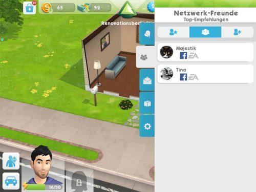 Freunde, die sich ebenfalls via Facebook verbunden haben, findest du direkt in Sims Mobile und kannst diese besuchen
