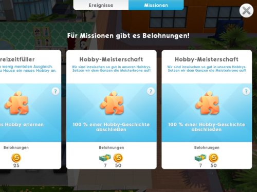 Schließt du Missionen in Sims Mobile ab, gibt es dafür SimCash