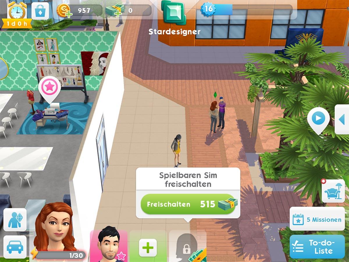 Die Sims Mobile: 3. und 4. Sim Slot freischalten - So gehts › Die Sims Mobile › Touchportal