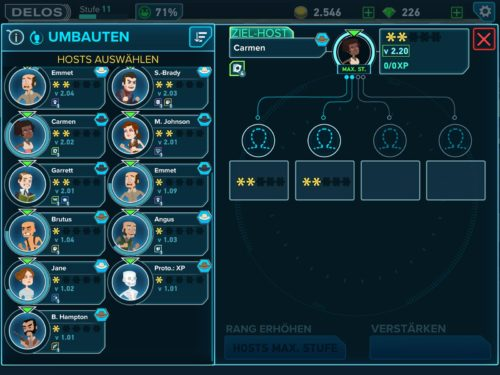 Um einen 2-Sterne Host zu upgraden, benötigst du zwei weitere Hosts mit 2 Sternen