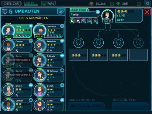 Zum Upgraden eines Hosts von 3-Sterne zu 4-Sterne brauchst du insgesamt drei Hosts der Stufe 3