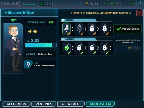 Requisiten bei den Hosts in Westworld erhöhen ein bestimmtes Attribut