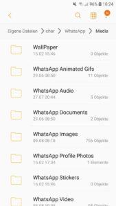 Alle Bilder von WhatsApp findest du im Speicher (hier bei Android)