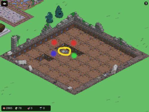 Schritt 2: Du bist auf den Stein bei der alten Ruine gestoßen - Es gibt nun vier Möglichkeiten (Erklärung unten)
