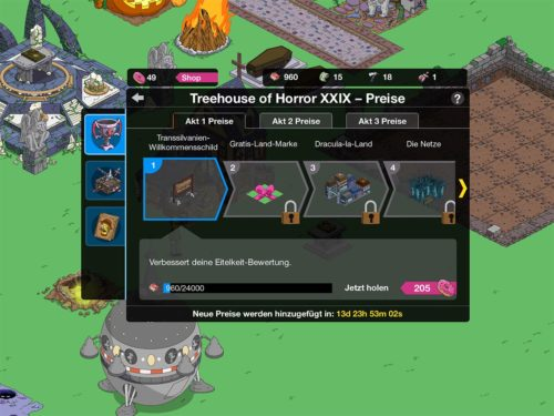 Preise in Akt 1 des Treehouse of Horror 2018 Events