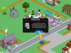 Der neue Stadtporträt Modus in Die Simpsons Springfield