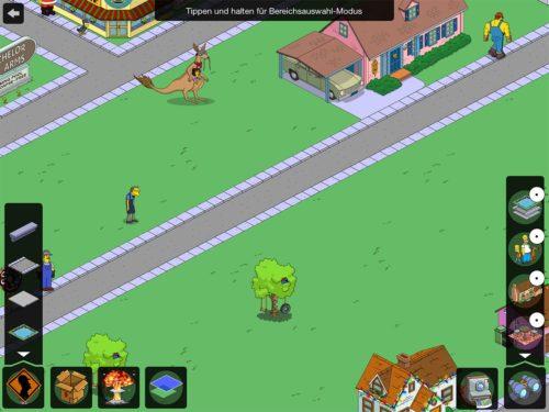 Schritt 1: Tippe auf den verschieben Modus (die gelben Pfeile unten rechts). Nun siehst du ebenfalls unten recht den Stadtporträt Button - Diesen antippen