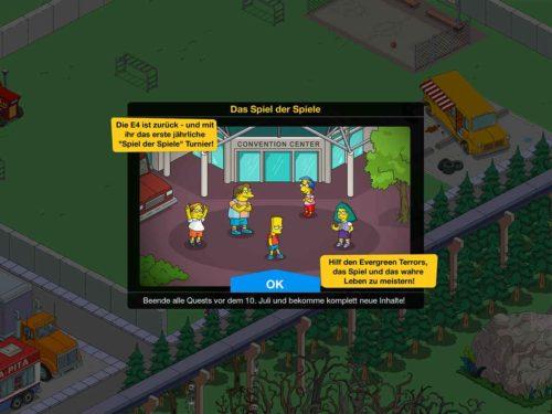 Simpsons Springfield Spiel der Spiele Event